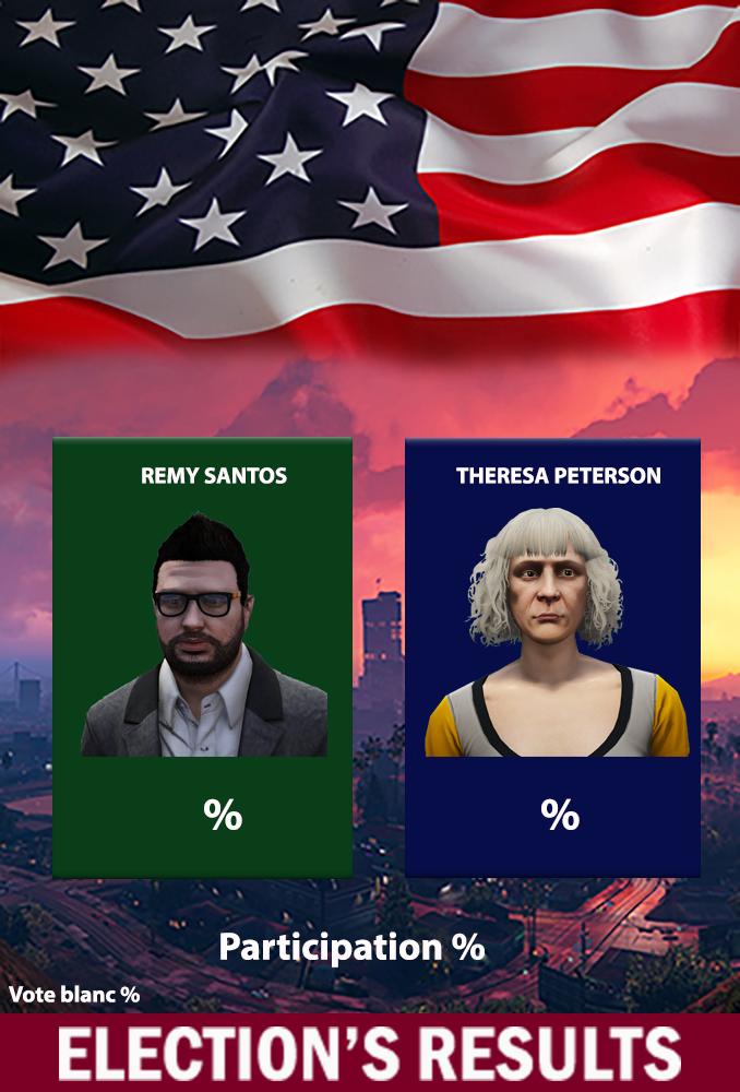 Annonce des résultats de l'élection gouvernementale de San Andreas